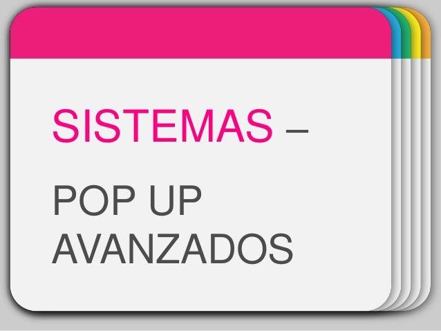WINTERTemplate SISTEMAS – POP UP AVANZADOS