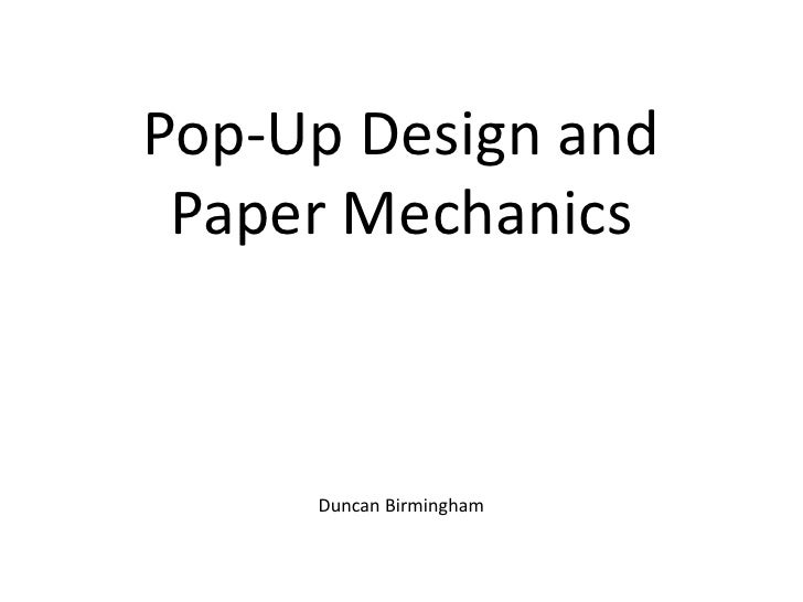 Pop-Up Design and Paper Mechanics     Duncan Birmingham