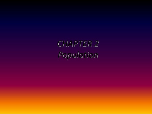 CHAPTER 2Population