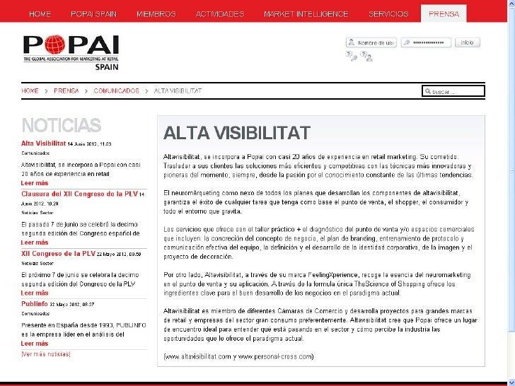Popai Spain presenta a altavisibilitat como su nuevo miembro