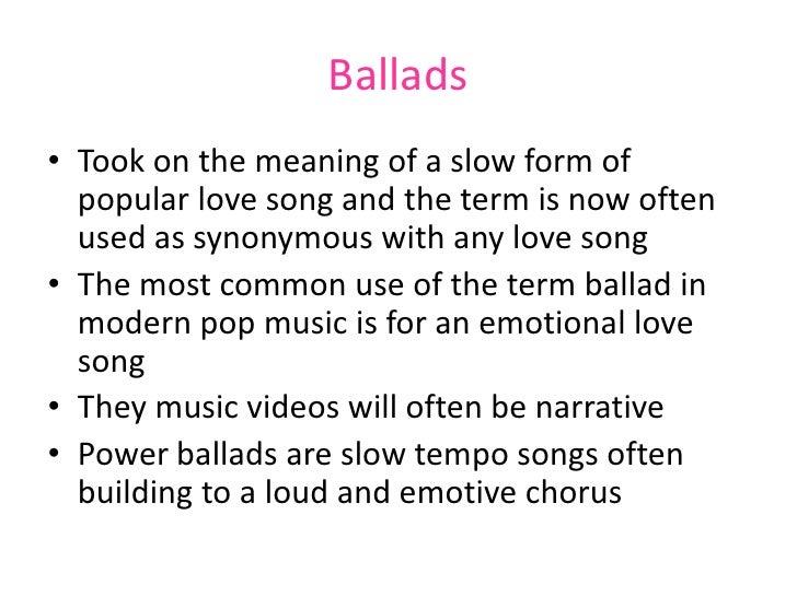 pop and ballad music