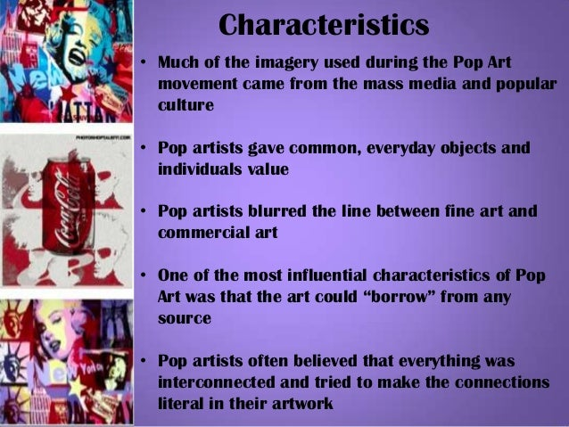 Characteristics Of Line In Art : Pop art final project