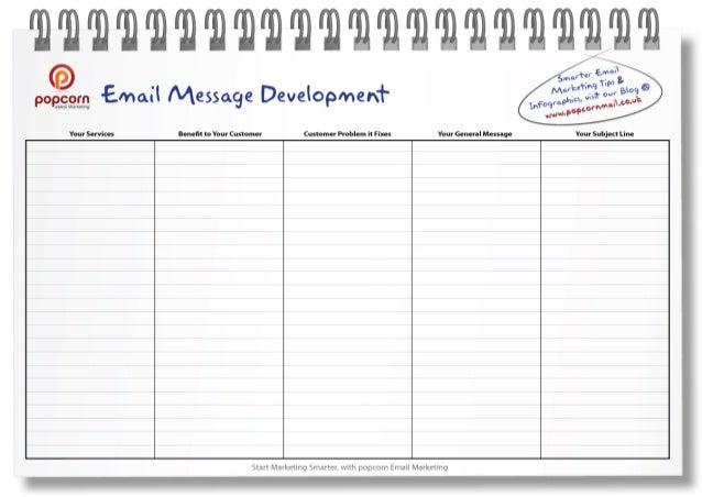 Email Marketing Message Development tool