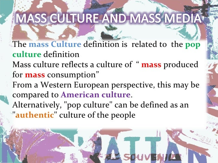 mass media influence on american culture