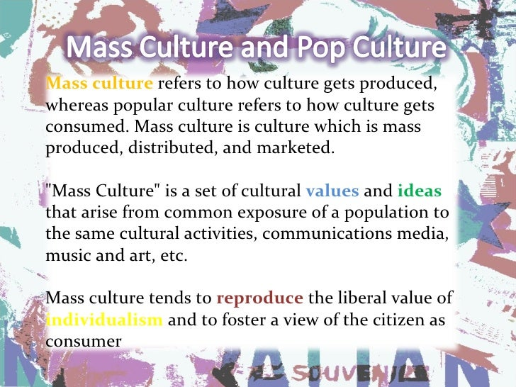 Difference Between High Culture and Popular Culture