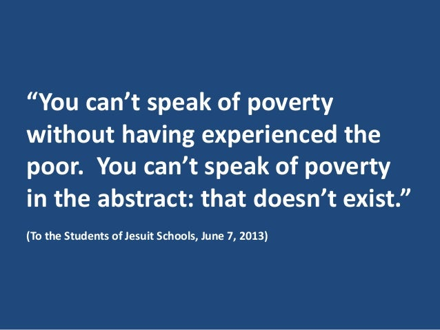Pope Francis Quotes On Poverty
