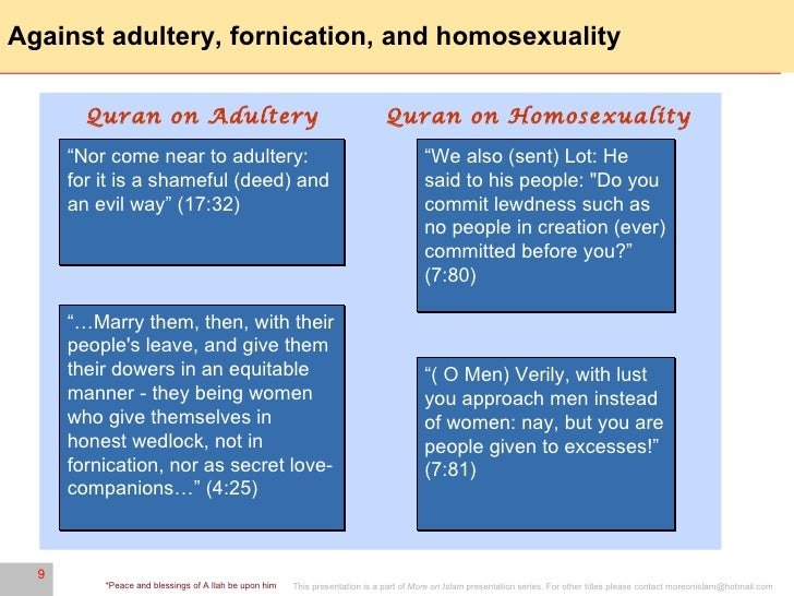 Islamic quotes against homosexuality