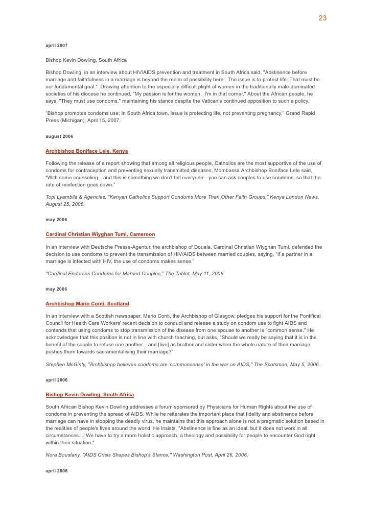 24 INTERVENTIONS PRIORITAIRES : Prévention, traitement et soins du VIH/SIDA dans le secteur de la santé rapports homosexue...