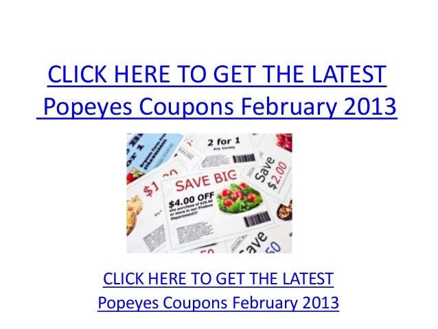 photo regarding Popeyes Coupons Printable identify Popeyes Coupon codes February 2013 - Printable Popeyes Discount codes