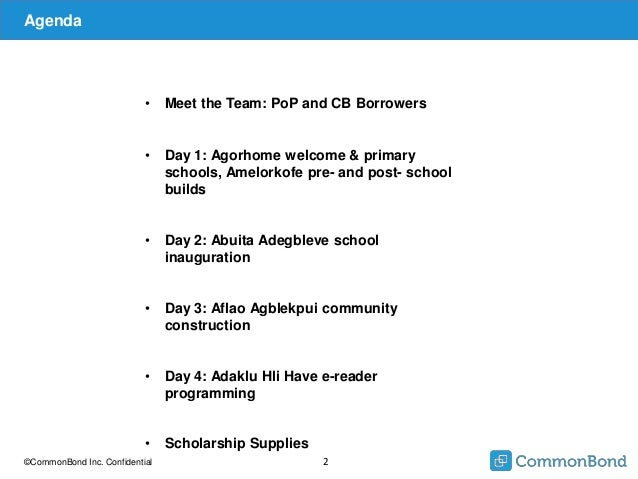 CommonBond's 2015 Trip to Ghana with Pencils of Promise Slide 2