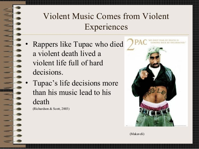 mudic and violence If you are what you eat, do you become what you listen to well, according to recent findings, this is the case a new study by the american psychological association reveals that songs with.