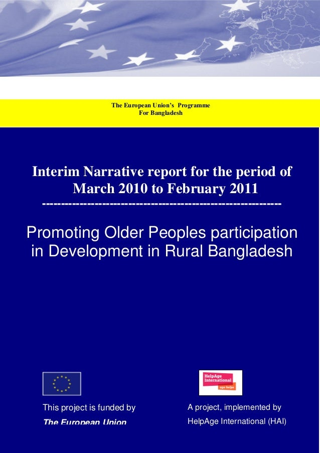 The European Union's Programme                                                                For Bangladesh       Interim...