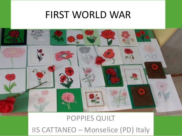 FIRST WORLD WAR  POPPIES QUILT IIS CATTANEO – Monselice (PD) Italy