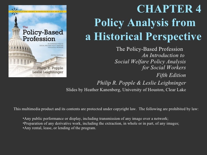 CHAPTER 4                                              Policy Analysis from                                            a H...