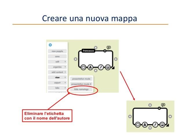 Creare una nuova mappa  Eliminare l'etichetta con il nome dell'autore 11