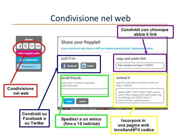 Condivisione nel web Condividi con chiunque abbia iI link  Condivisione nel web  Condividi su Facebook o su Twitter  Spedi...