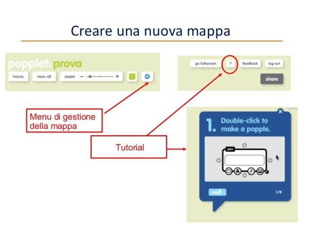 Creare una nuova mappa  Menu di gestione della mappa Tutorial  7