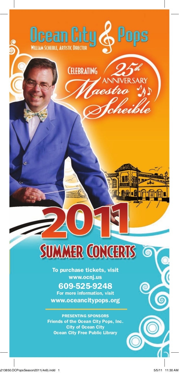 To purchase tickets, visit                                     www.ocnj.us                                   609-525-9248 ...