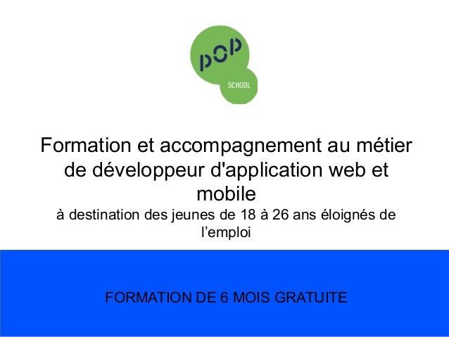 Formation et accompagnement au métier de développeur d'application web et mobile   à destination des jeunes de 18 à 26 a...