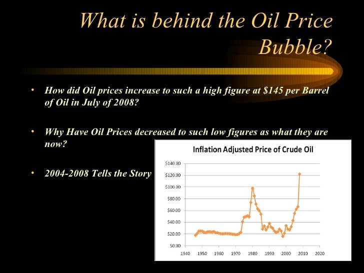 The Oil-Price Bubble
