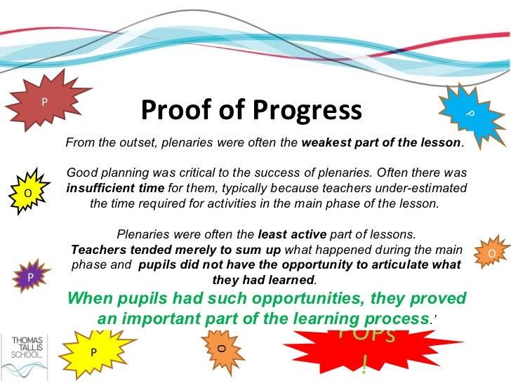 P                     Proof of Progress                                                                              P    ...