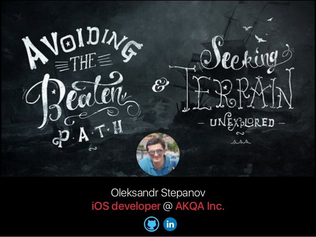 Oleksandr Stepanov iOS developer @ AKQA Inc.