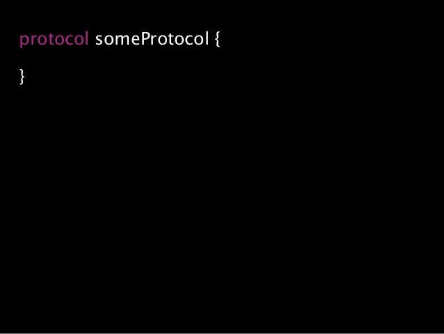 protocol someProtocol { }