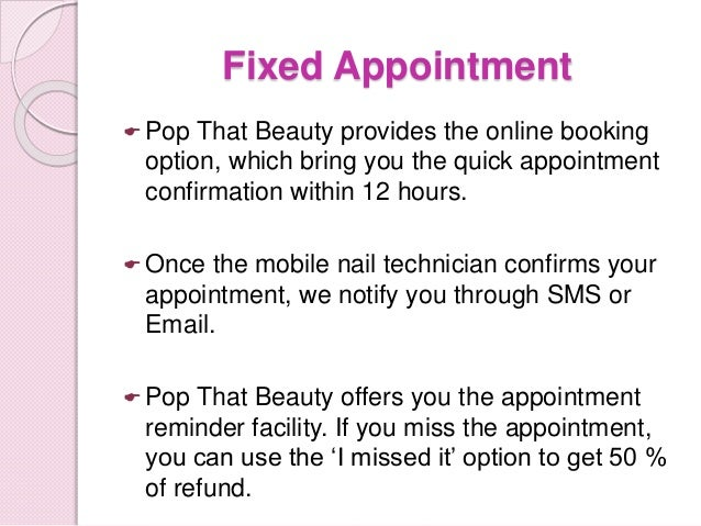 Services 6 Fixed Appointment