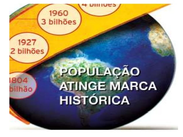 POPULAÇÃO MUNDIAL  1804  1 BILHÃO