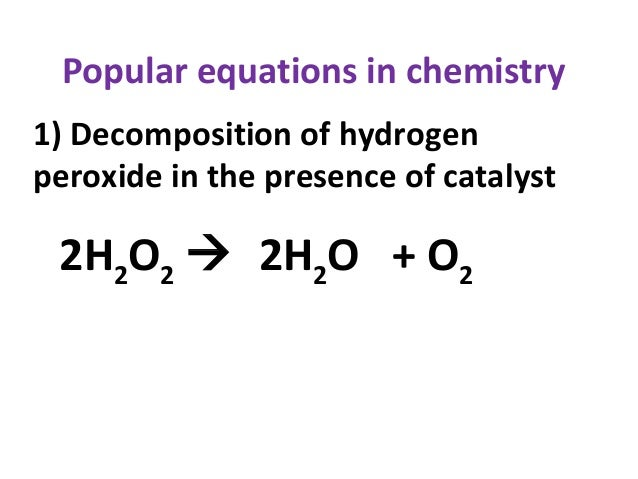 Decomposition of Hydrogen Peroxide Lab Answers