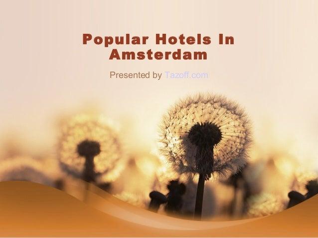 Popular Hotels In Amsterdam