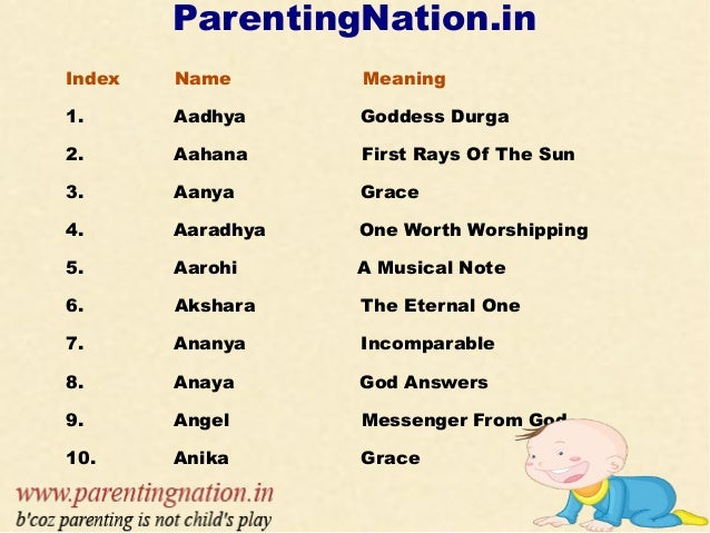 81ddd9664 Popular Indian Baby Girl Names With Meanings