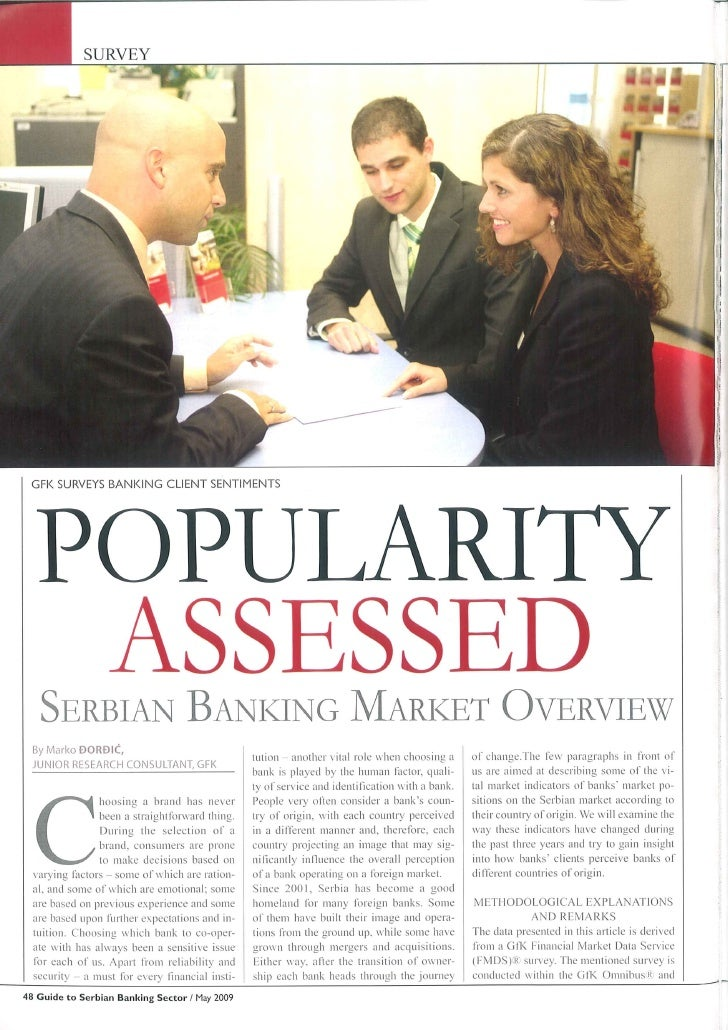 Popularity Assesed Serbian Banking Market Overview