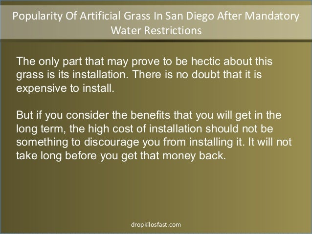 dropkilosfast.com The only part that may prove to be hectic about this grass is its installation. There is no doubt that i...
