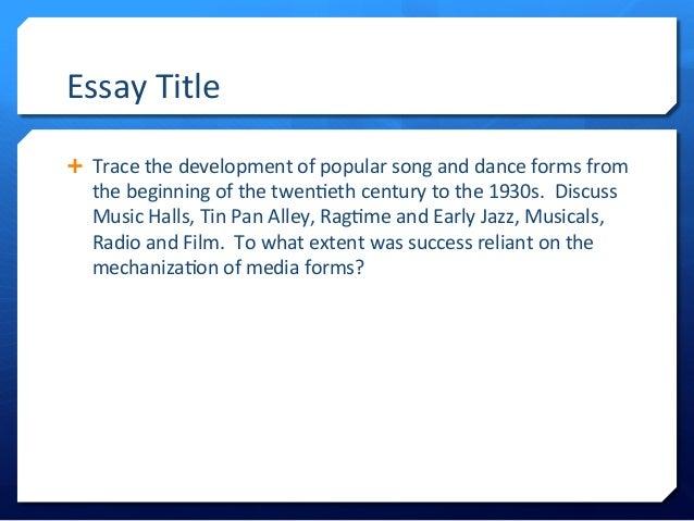 writing a good music essay