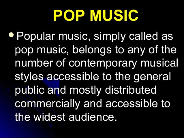 pop music lesson essay Unlike most editing & proofreading services, we edit for everything: grammar, spelling, punctuation, idea flow, sentence structure, & more get started now.