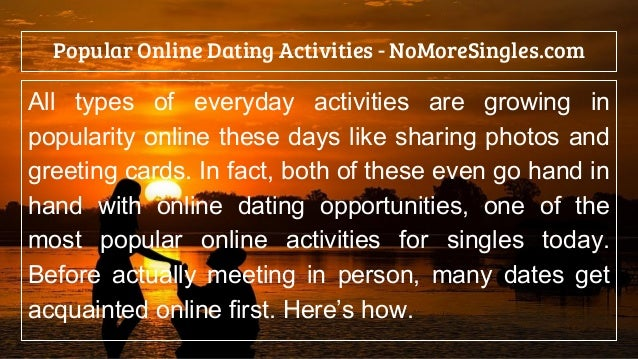 Popularity of online dating