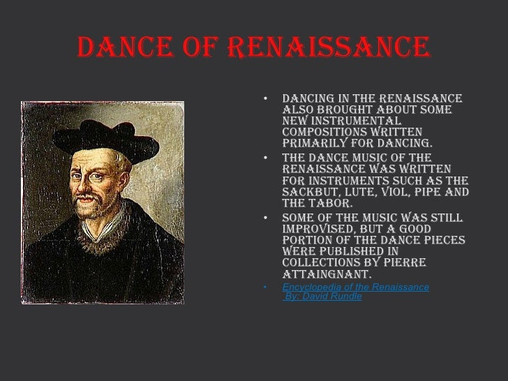 Popular Songs And Dances Of The Renaissance Period