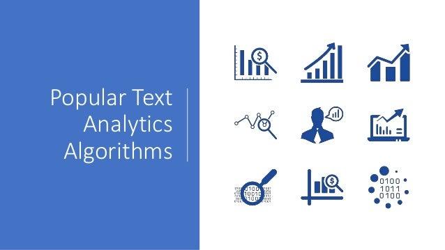 Popular Text Analytics Algorithms