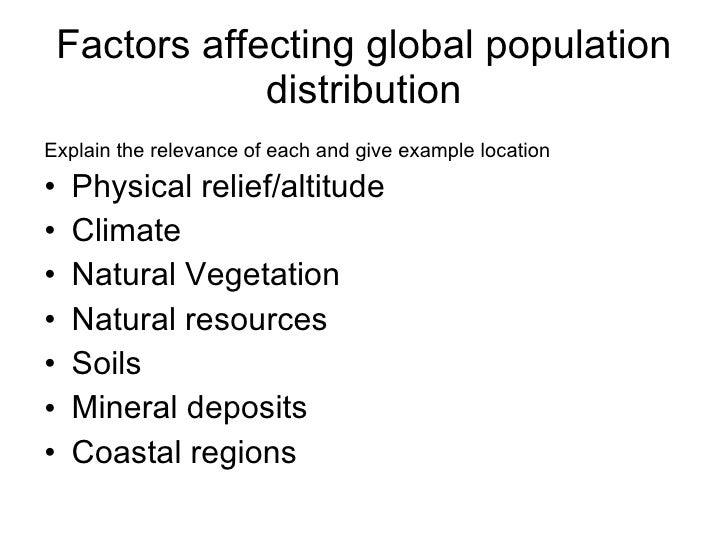 factors affecting population distribution pdf