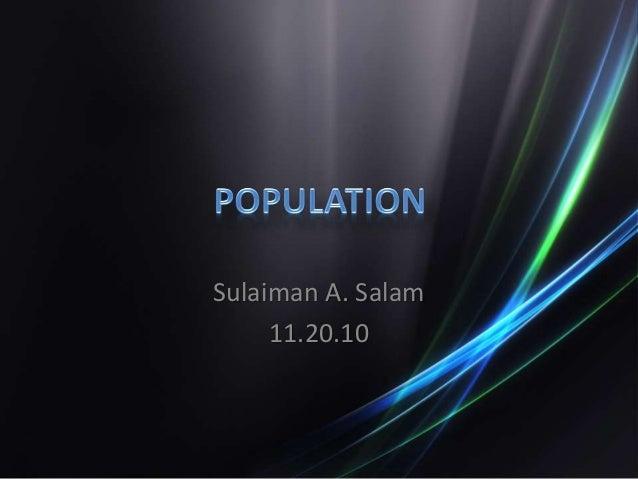 Sulaiman A. Salam 11.20.10
