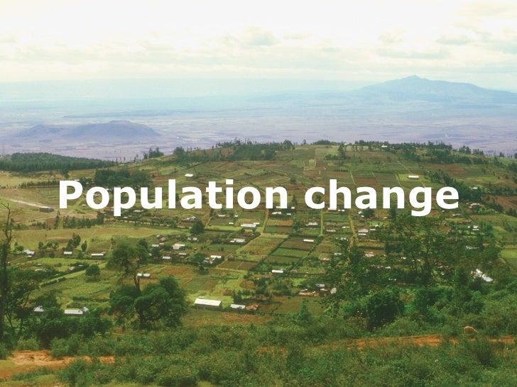 Population change    Population change