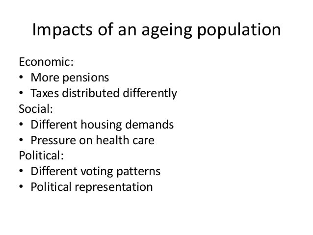 The impact of an ageing population on the economy
