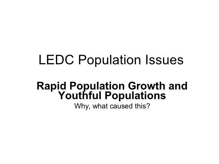 an examination of the population growth rate and the issues of rapid growth rates 4 urbanization trends, growth rates among sub-saharan africa's rural populations are not expected to decline until 2045 (ifad 2011) without corresponding increases in living standards, the concentration of future growth.