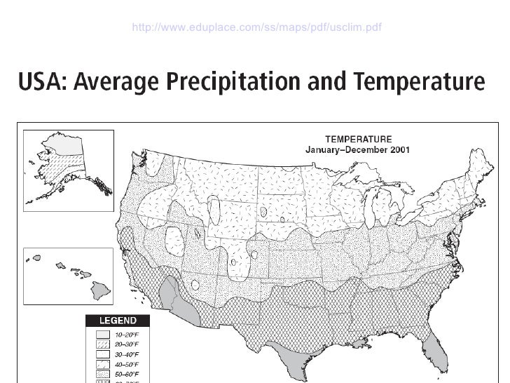 Population And Physical Features Of USA - Us map eduplace