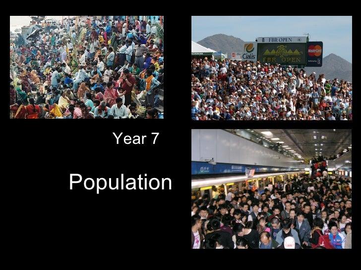 Population Year 7