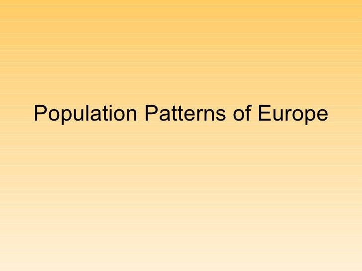 Population Patterns of Europe