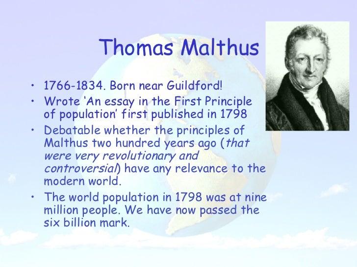 critically analyze malthusian theory of population
