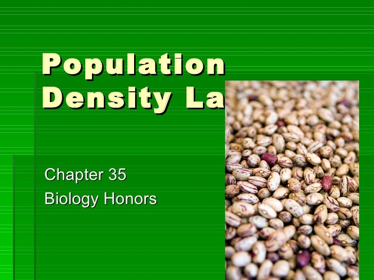 Population Density Lab Chapter 35 Biology Honors