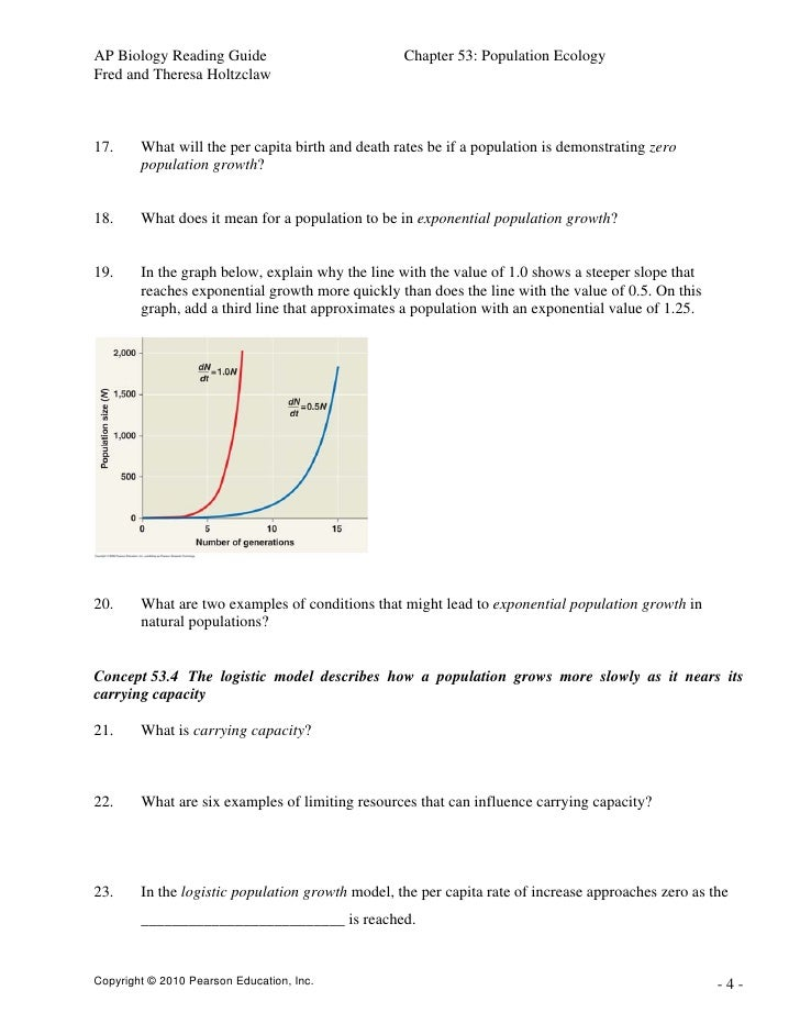 Ap Biology Chapter 52 Reading Guide Answers Homework Example